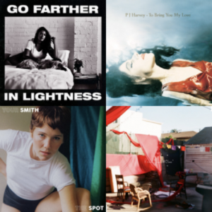 I lost my heart playlist with 4 album covers in grid